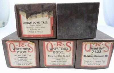 Lot of 5 Vintage Q.R.S Piano Rolls - Waltz and Foxtrot - Good Condition