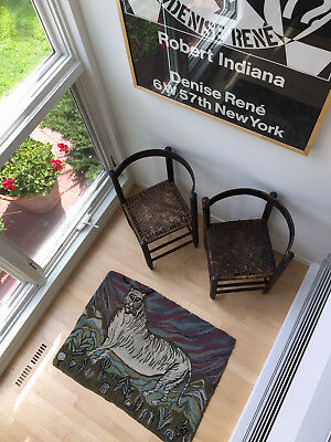 Early American, Primitive Corner Chairs, Rare Matched Set with Original Paint