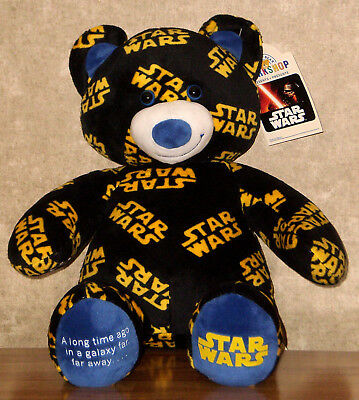 Build a Bear Star Wars Teddy Movie Theme Sound 16in. Stuffed Plush Toy Animal