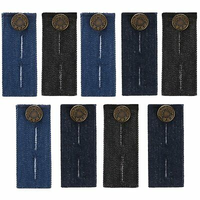 9 Pieces Waist Extender With Metal Button For Pants, Jeans, Trousers And Skirt