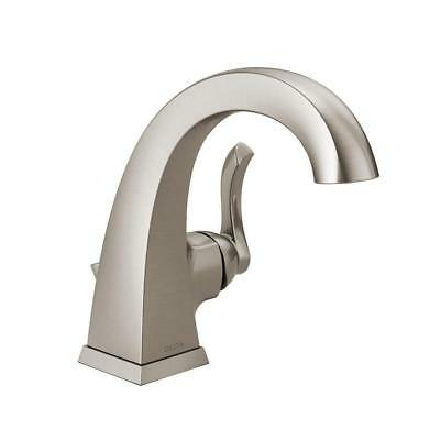 DELTA EVERLY 4 in. Centerset 2-Handle Brushed Nickel High Arc ...