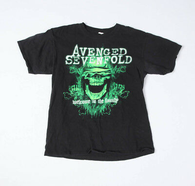Avenged Sevenfold Welcome to the Family Tour 2011 Dates T-Shirt Size L