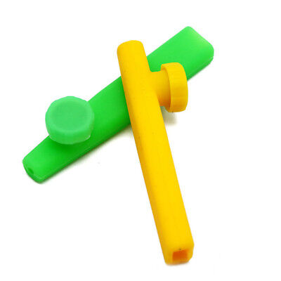 Fashion Silicone Hand Tobacco Smoking Pipe with Cap Herb Cigarette Filter Holder