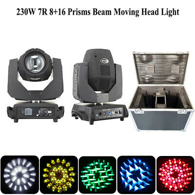 2pcs 230W 7R Sharp Beam Moving Head Light with flight case ship from US storage
