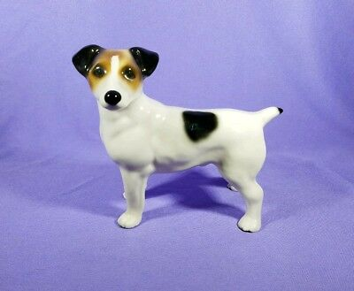 JACK RUSSELL Figurine MADE IN ENGLAND Stamped Dog Figure Decor Standing Statue