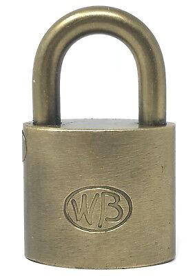 Vintage Old Antique WB COLUBIA GAS SYSTEM PADLOCK BRONZE Collector's Lock NO key
