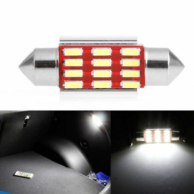 2Pcs 36mm 4014 12SMD LED Light Canbus Festoon Dome Car License Plate Lamp C5W KY