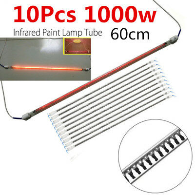 "23.6"" 1KW Infrared Heated Tube Light Spray Oven Booth Paint Lamp Replacement 10X"