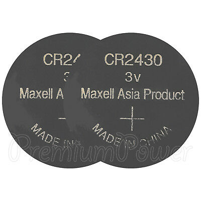 2 x Maxell Lithium CR2430 batteries 3V Coin Cell DL2430 BR2430 ERC2430 EXP:2021