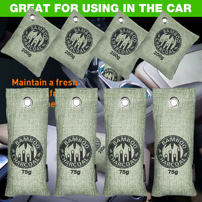 8pcs Car Home Air Freshener Odor Absorber Activated Carbon Bamboo Charcoal Bag