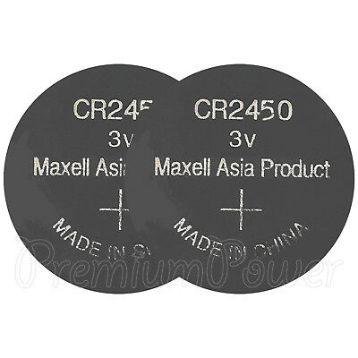 2 x Maxell Lithium CR2450 batteries 3V Coin Cell DL2450 BR2450 ECR2450 EXP:2021