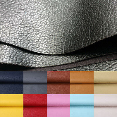 Litchi Faux Synthetic PU Leather Fabric Leatherette Sheet For Bag & Craft ZAIONE
