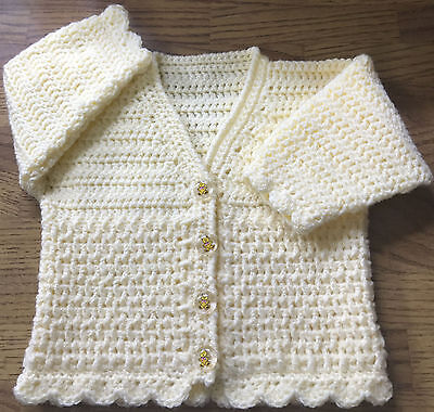 Baby Crochet Pattern Double Knit Cardigan Sizes Birth 6 Years