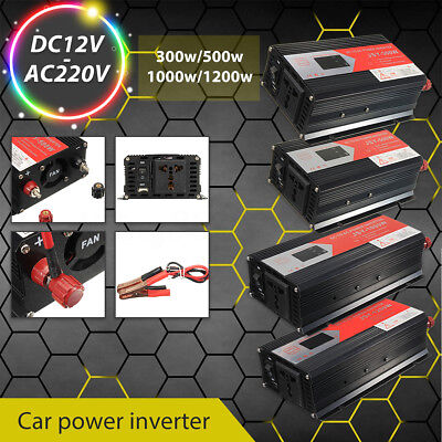 300W-1200W Power Inverter Modificata Sine Wave DC 12V AC 220V Per Car Converter