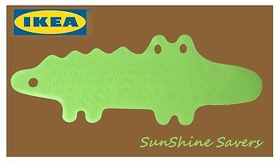 IKEA PATRULL Bathtub Shower Bath Mat Crocodile Green Anti Non Slip Safe Bathroom