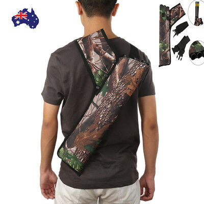 3 Tubes Archery Arrow Quiver Bow Bag Case Holder Tube Recurve Bow Hunting 2'