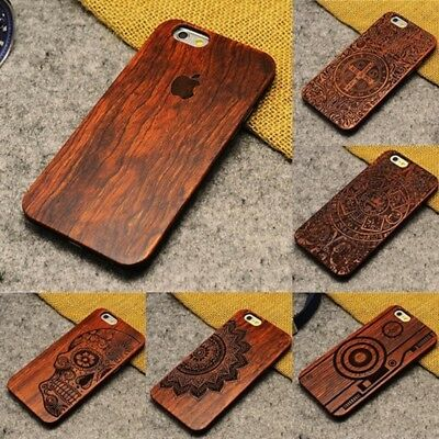 Natural Wooden Wood Phone Case Cover For  iPhone 8 5s SE 6 6s Plus 7 Plus