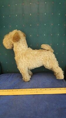 Vintage Stuffed Mohair Wire Hair Terrier Dog toy antique Stieff ???