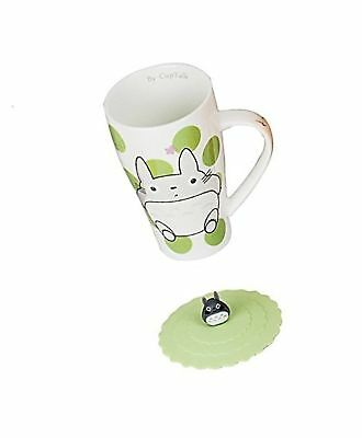 Totoro Mug With Silicone Lid (Color Green Dot)