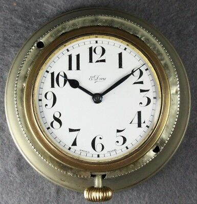 Oldtimer Uhr 8 Days Buren 6 Jewles Swiss Made in Halterung