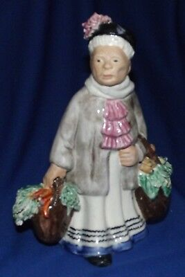 """Rare Jane Callender Script Signed California Pottery """"Old Woman & Produce""""#30"""