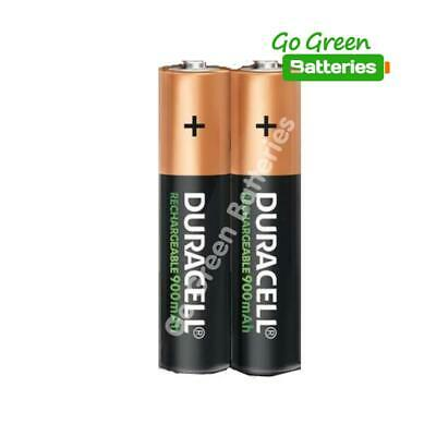 2 x Duracell AAA 900 mAh Rechargeable Batteries (Was 850) NiMH LR03 HR03 Phone