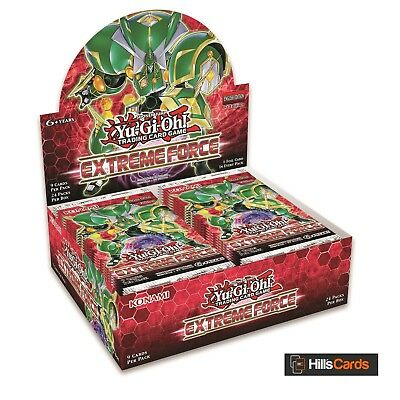 Yu-Gi-Oh Extreme Force Sealed Booster Box of 24 Packs: New TCG Cards