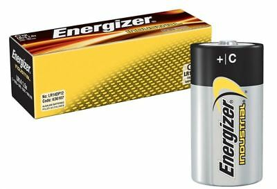 NEW Energizer C Industrial C/LR14 Batteries for Camera's / Toys & more - 12 Pack