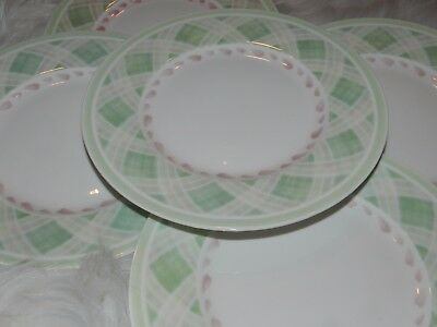 Villeroy & Boch Florea Flair 1748 Pink Green Salad Plate Lot Fine China 8 1/2""
