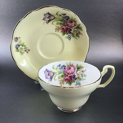 Foley Yellow Floral Tulip Vintage Bone China Tea Cup & Saucer England Teacup