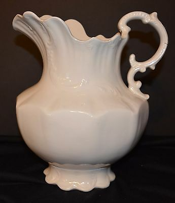 Antique CHAMPION Wash Pitcher White Ceramic AS IS Ironstone?