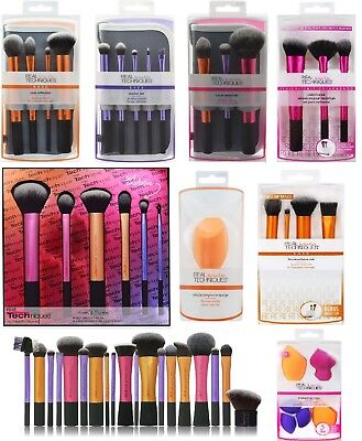 New Real Techniques Makeup Brushes Powder Stippling Sculpting Expert Face UK