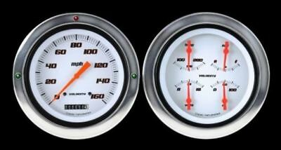 Velocity Series White 1954-55 Chevy PU Gauges - Classic Instruments - CT54VSW52