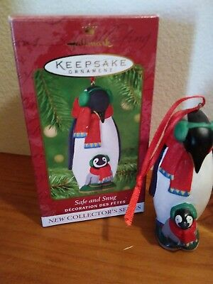 Hallmark Christmas Ornament ~ Safe and Snug ~ Poreclain ~ Dated 2001