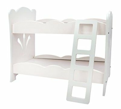 Doll Bunk Bed 18 Inch Furniture Set 18 White Floral Fits American
