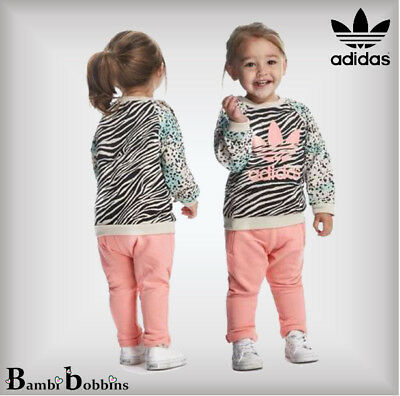 Adidas Originals Baby Girls Age 0-3-6-9-12 Months Outfit Animal Print Tracksuit