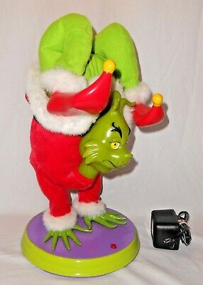 The Grinch Gemmy Animated Musical Plush Hand Stand Dancing 2000 Dr. Seuss TESTED