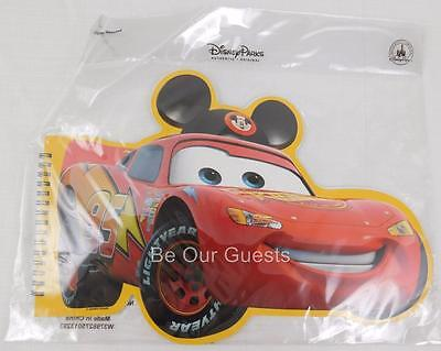 Disney Parks Lightning McQueen Cars Large Shaped Notepad Coloring Pages New