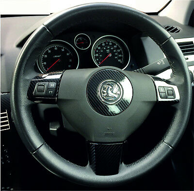 5D Gloss Carbon Fibre effect steering wheel trim to fit ASTRA H Mk5 (2004–2010)