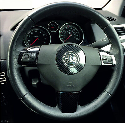 ASTRA H Mk5 (2004–2010) 5D Gloss Carbon Fibre effect steering wheel trims