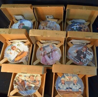 The Hamilton Collection Plate I Love Lucy Lot of 9 With COA & Original Boxes