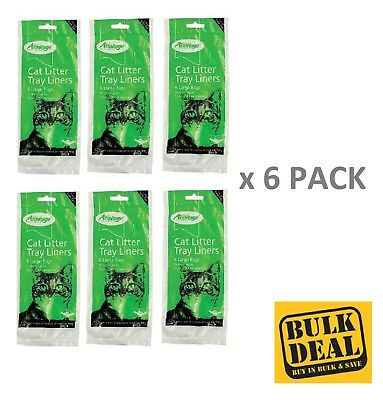 x 6 Pack Armitage Cat Litter Tray Liner Extra Large 52 x 40 cm Liner  Fast Del'y