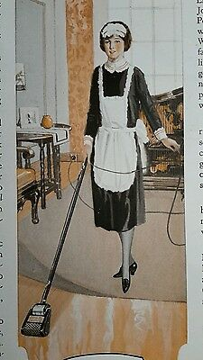 Large 1925 Vintage advertising JOHNSON'S WAX Electric Floor polisher ad Maid