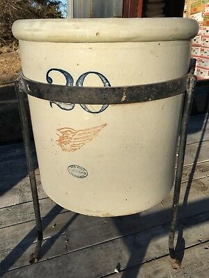 Vintage 20 Gallon Red Wing Funnel Crock - Unusual and Rare