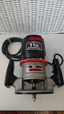 Sears Craftsman Double Insulated Router 100% Ball Bearings 1 1/4 HP #315.17560