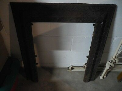 Antique Cast Iron Victorian  Fireplace Surround