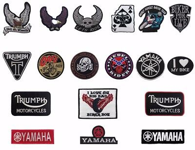 Top Quality Embroidered biker motorcycle iron on patch sew on badge