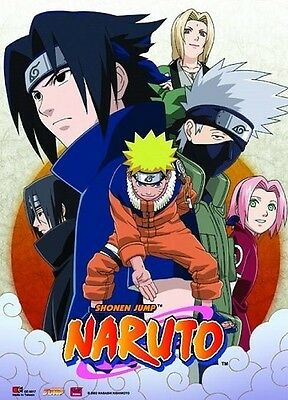NARUTO GROUP SHOT Anime WALL SCROLL Manga Poster ~ OOP  NEW