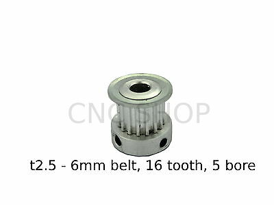 T2.5 6mm WIDE BELT 16T 5mm BORE TIMING PULLEY CNC MACHINE 3D PRINTER MOTOR DIY