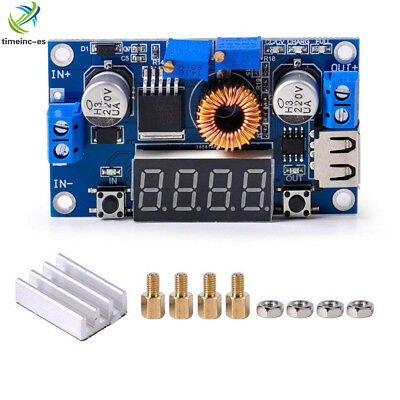 5A CC CV LED Drive Lithium charger Power Step-down Module W/ USB Voltmeter
